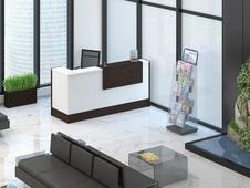 Офисная мебель для приемной руководителя в Казани. Стойки ресепшн для офиса